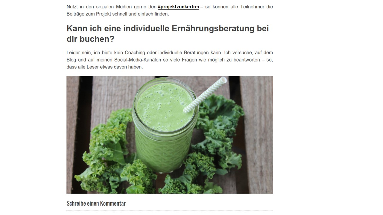 Screenshot Vom Blog Der Hannah Frey