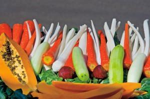 Papaya, Karotten, Gurken