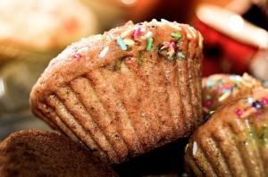 Muffin / Napfkuchen mit Zuckerstreuseln