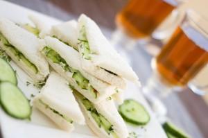 Bild Gurkensandwiches aus Weißbrot