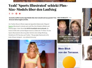 Screenshot BRIGITTE.de mit Titel zu Sports Illustrated