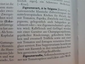 Foto aus Lexikoneintrag Brockhaus: Zigeunerart, à la Tzigane mit Rezept